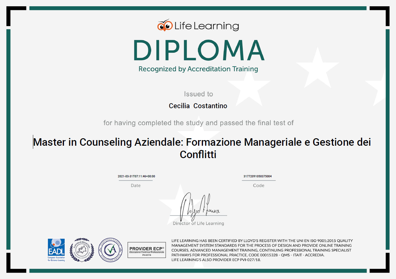 master in counseling aziendale